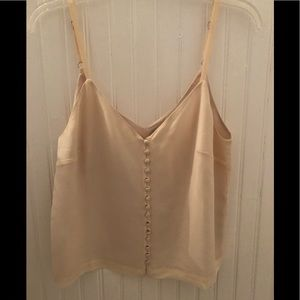 Madewell 100% Silk Cream Button Front Cami 6